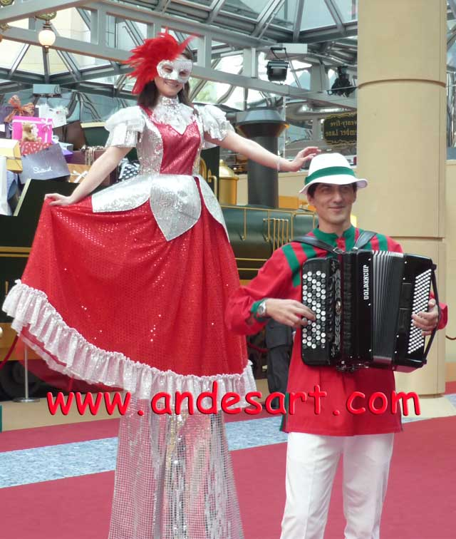 Accordion Stilt Walker