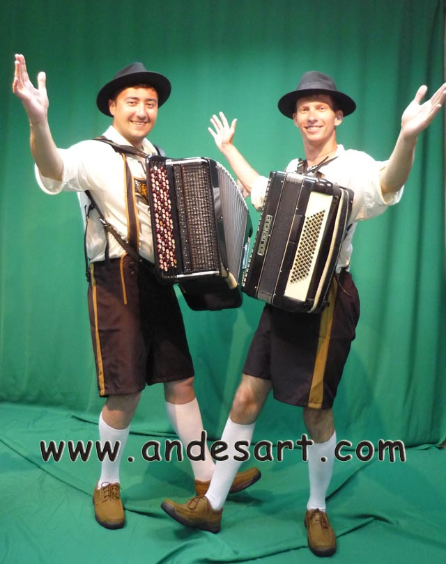German accordionists Duo